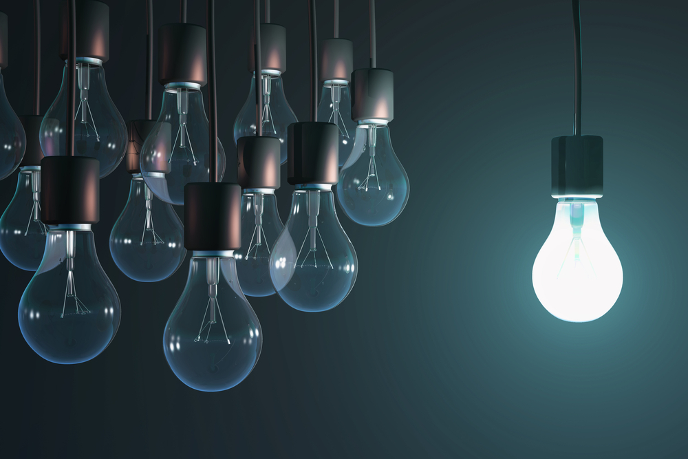 glowing bulb that symbolises law firm thought leadership